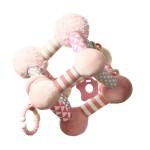 Attīstošā mīksta rotaļlieta TINY YOGA CUBE BabyOno 899/01 PINK