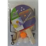 Galda tenisa komplekts:raketes+3 bumbiņas+tīkls , TAAT-304