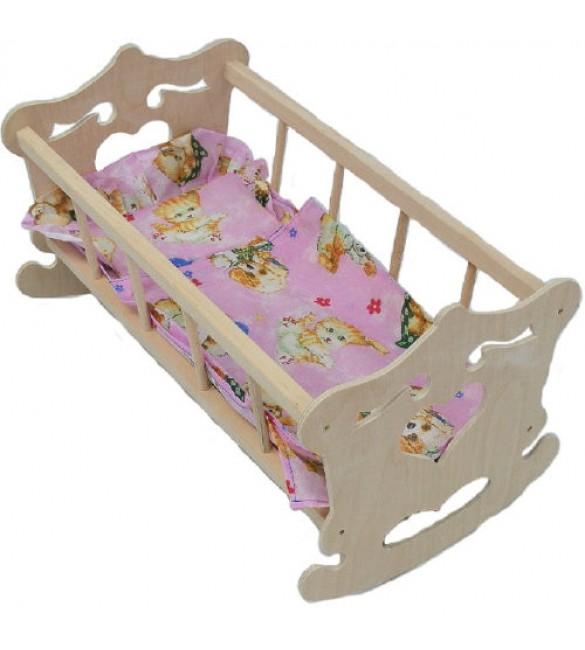 Leļļu gulta-šūpulis SIRSNIŅA  (4422)