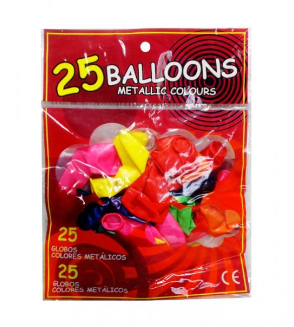 """Baloni """"Metalic """" 25 gb.  Q2483"""