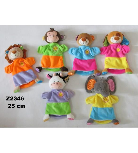 Zvēriņi -marionetes, dažādi veidi , 23 cm Z2346  Sandy