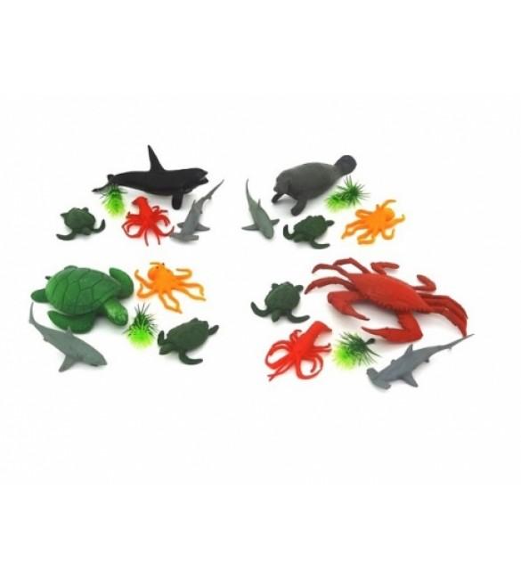 Jūras dzīvnieki (4 gab.) ZR666F-14