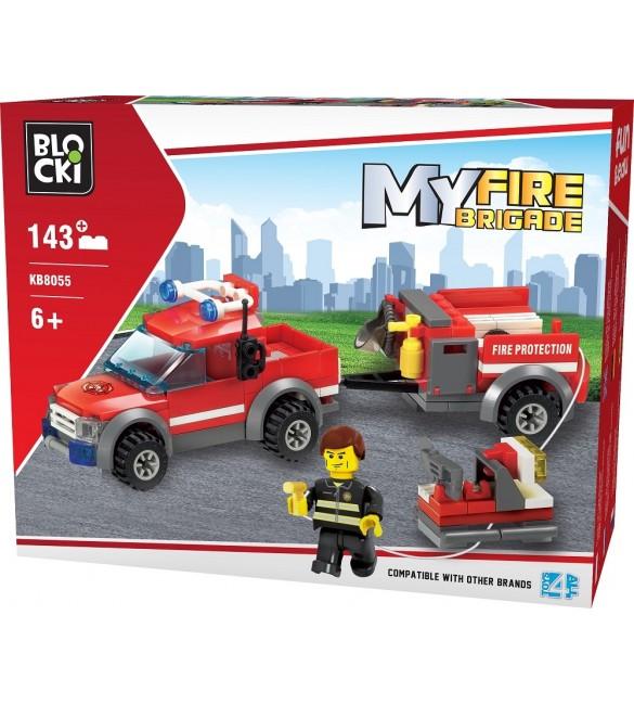 Kluči MyFireBrigade mašīna ar piekabi 143 el. KB8055