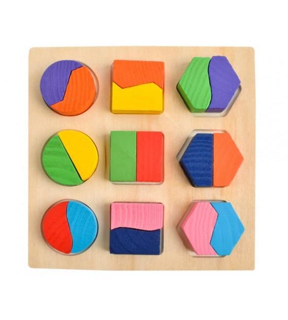 Koka puzle-prāta spēle GEOMETRY (6827)