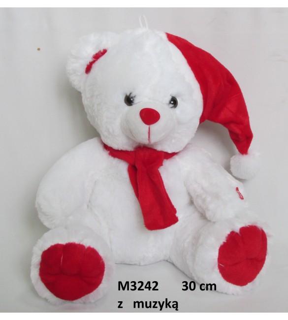 Lācis ar ziemassvētku mūziku 30 cm  M3242  Sun-day