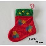 Ziemassvētku zābaciņš 21 cm S0017  (gift'19)